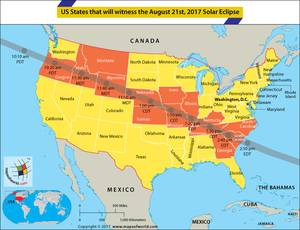 Which US States does the 2017 Eclipse Pass Through?