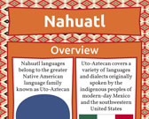 Infographic of Nahuatl Language