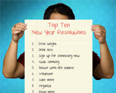 Infographic on New Year's Resolutions