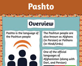 Infographic of Pashto Language