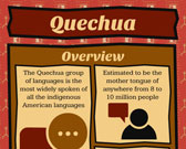 Infographic of Quechua Language