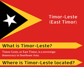 Infographic of East Timor Fast Facts