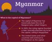 Infographic of Myanmar Fast Facts
