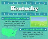 Infographic Of Kentucky Fast Facts