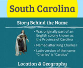 Infographic Of South Carolina Fast Facts
