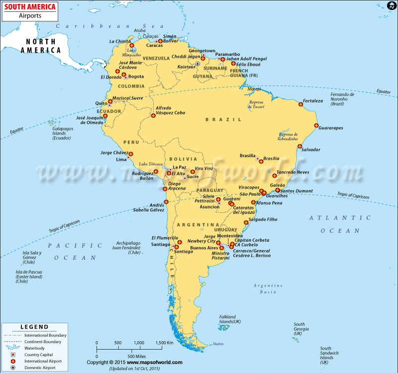 Airports in South America, South America Airports