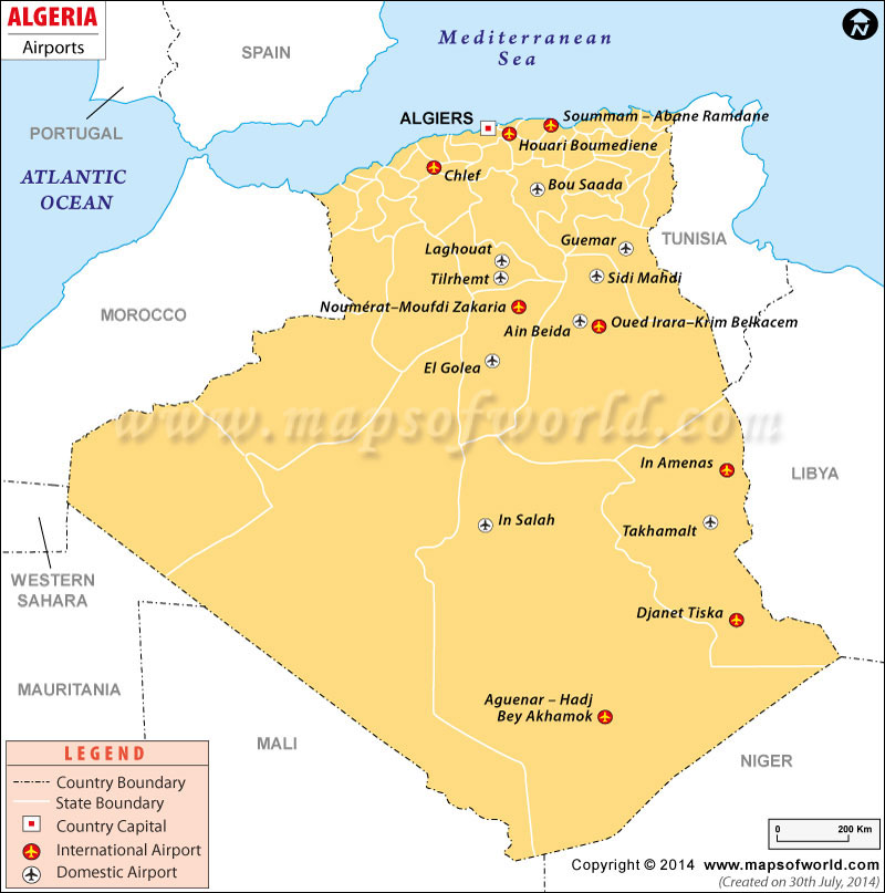 Airports in Algeria