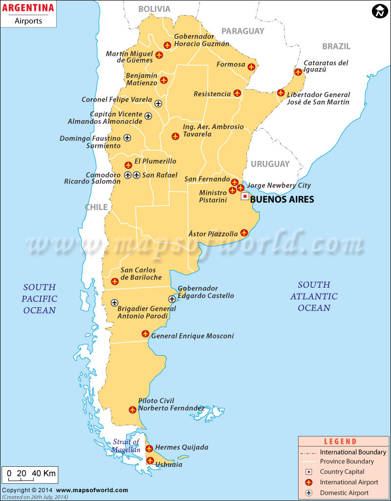 Argentina Airports Map Airports In Argentina - Usa map with airport codes