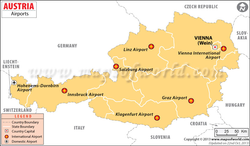 Austria Airports Map