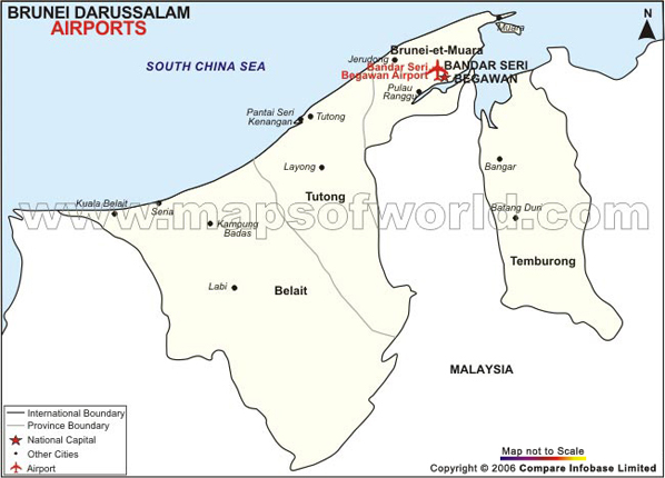 brunei-airport-map