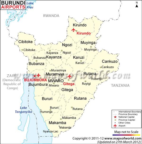 Burundi Airport Map