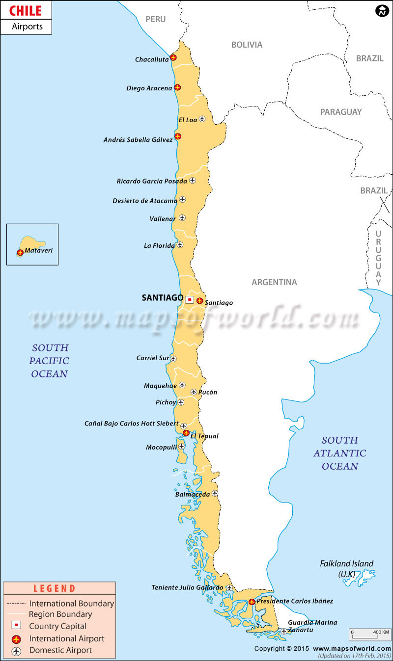 Airports in Chile Chile Airports Map