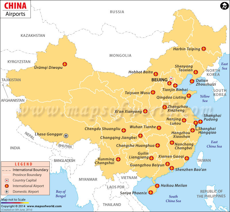 Airports in china china airports map airports in china gumiabroncs Choice Image