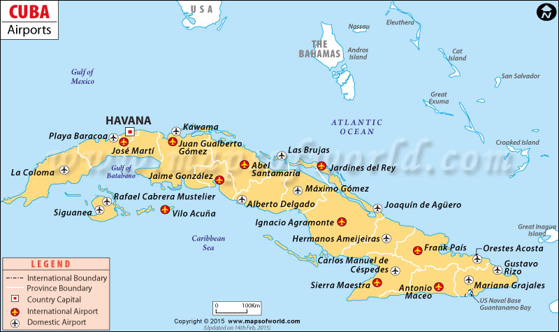 Airports in Cuba Cuba Airports Map