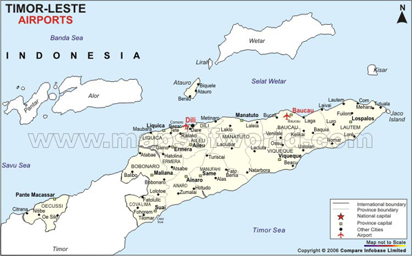 East Timor Airports Map
