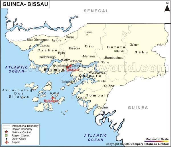 Airports In Guinea Bissau Guinea Bissau Airports Map