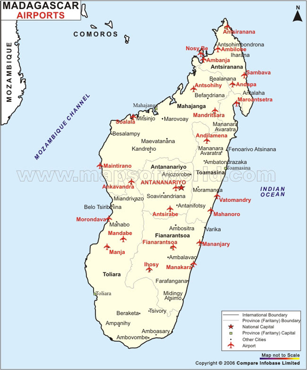 Madagaskar Karte Nationalparks.Airports In Madagascar Madagascar Airports Map