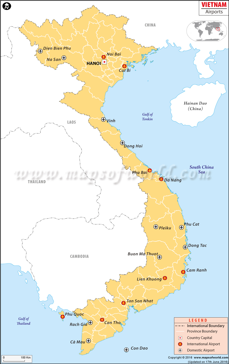 Airports In Vietnam Vietnam Airports Map - Washington dc map airports