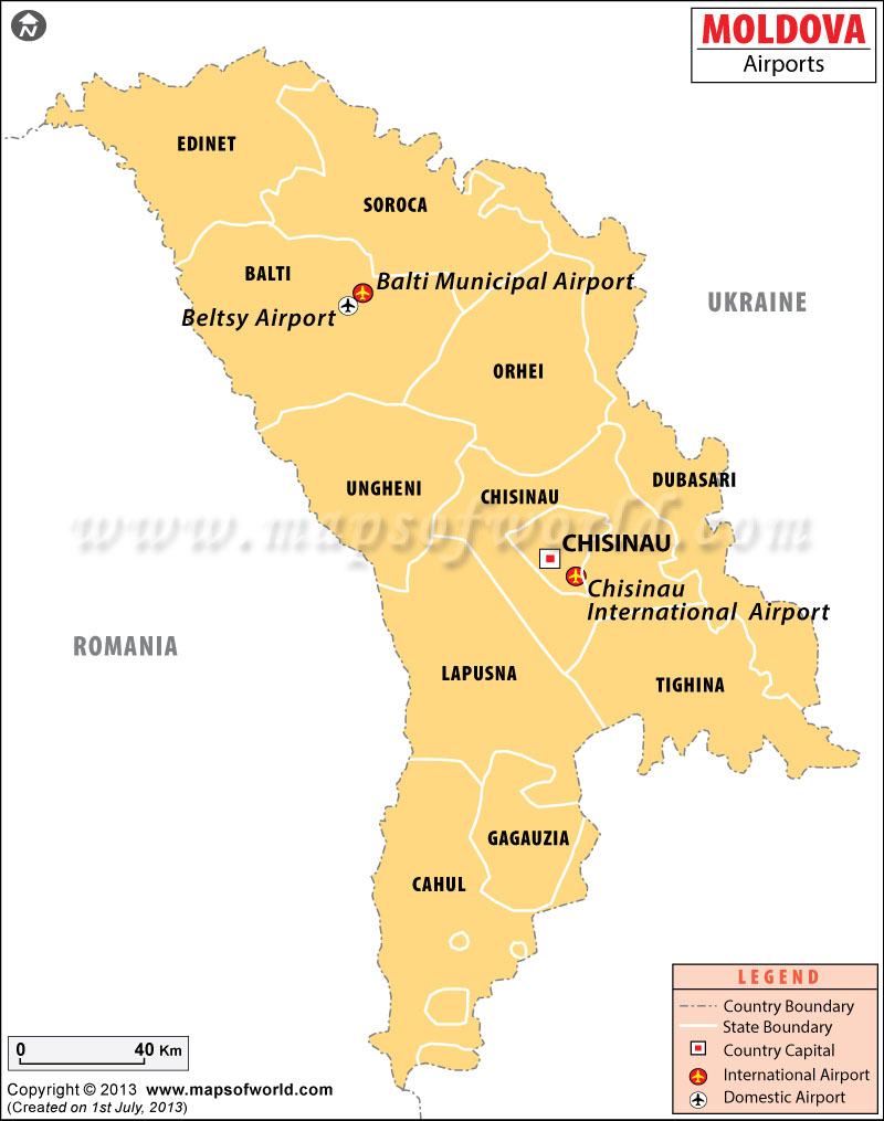 Airports in Moldova Moldova Airports Map