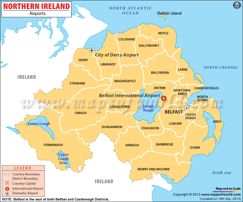 Northern Ireland Airports Map
