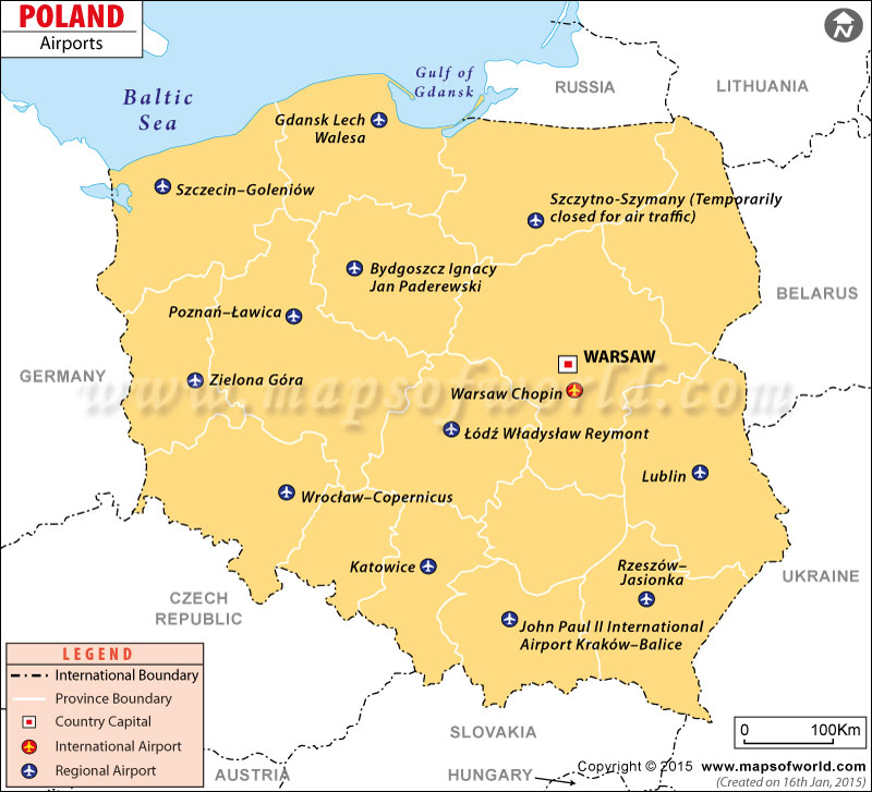 Airports in poland poland airports map poland airports map gumiabroncs Choice Image