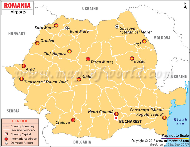Airports in Romania Romania Airports Map