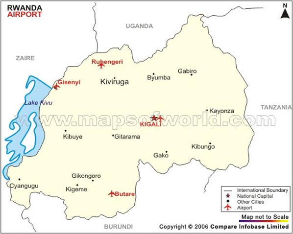 Rwanda Airport Map