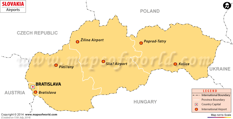 Airports In Slovakia Slovakia Airports Map - Italy airports map