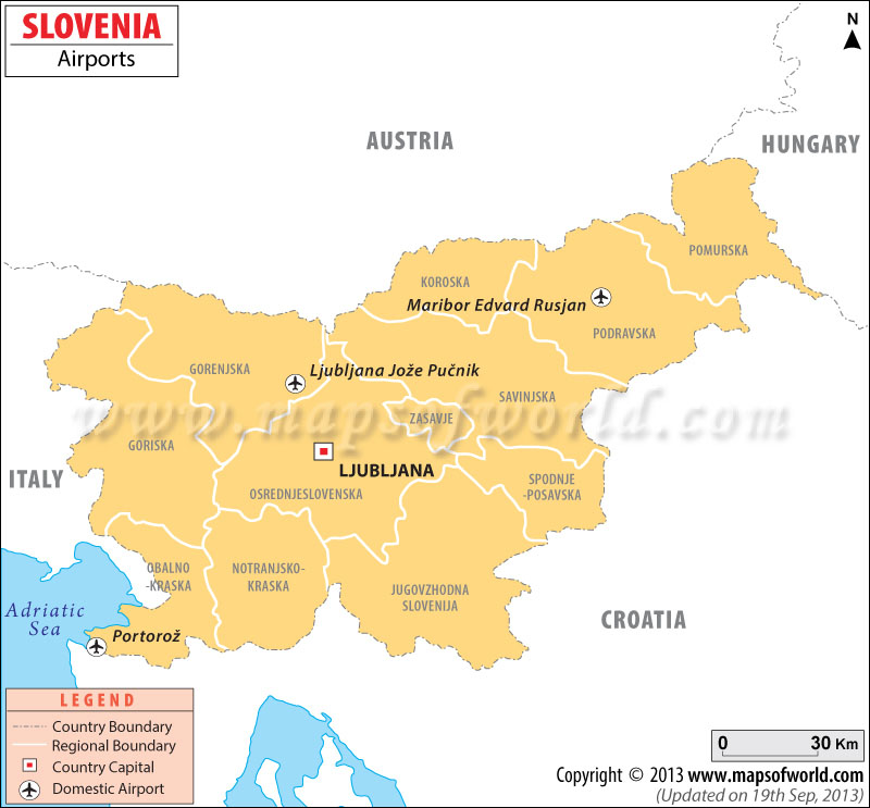 Slovenia Airports Map