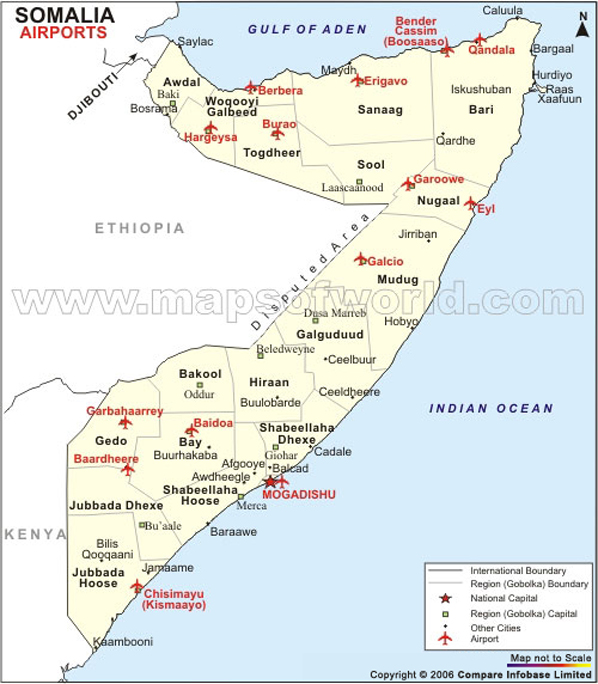 Somalia Airport Map