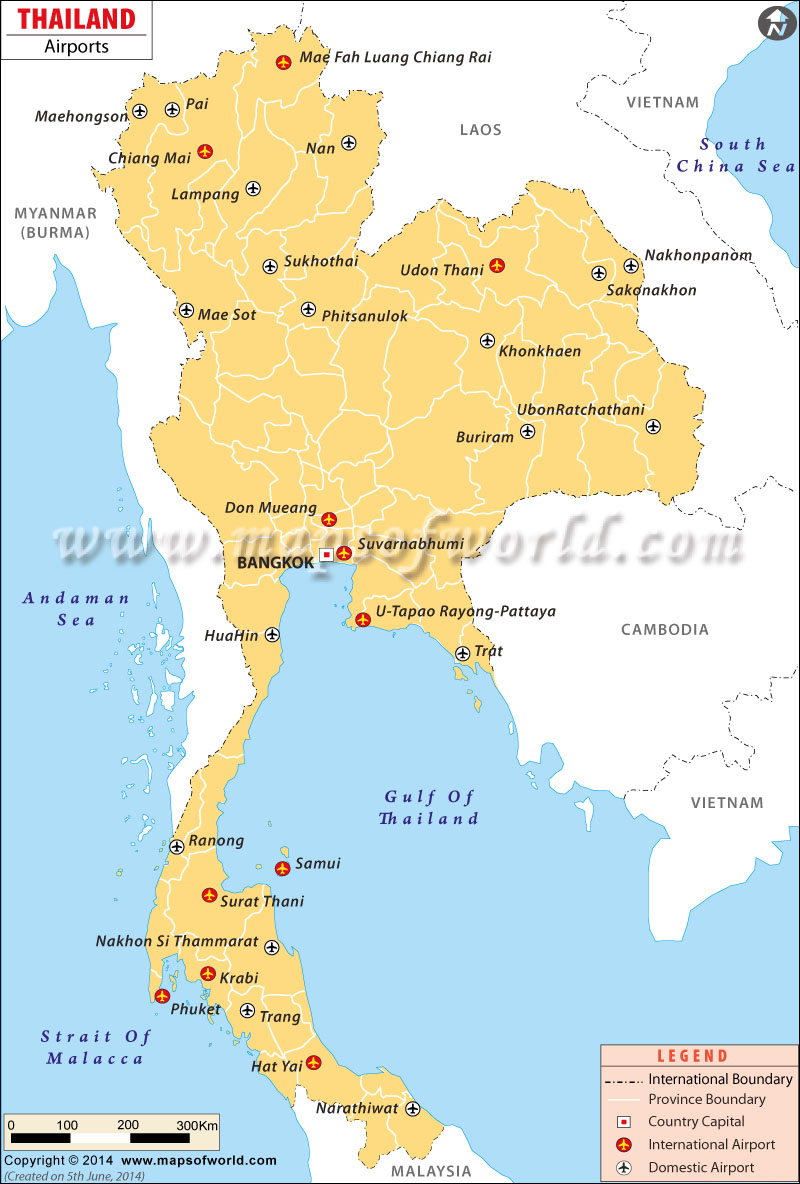 Airports In Thailand Thailand Airports Map - Usa map with airport codes