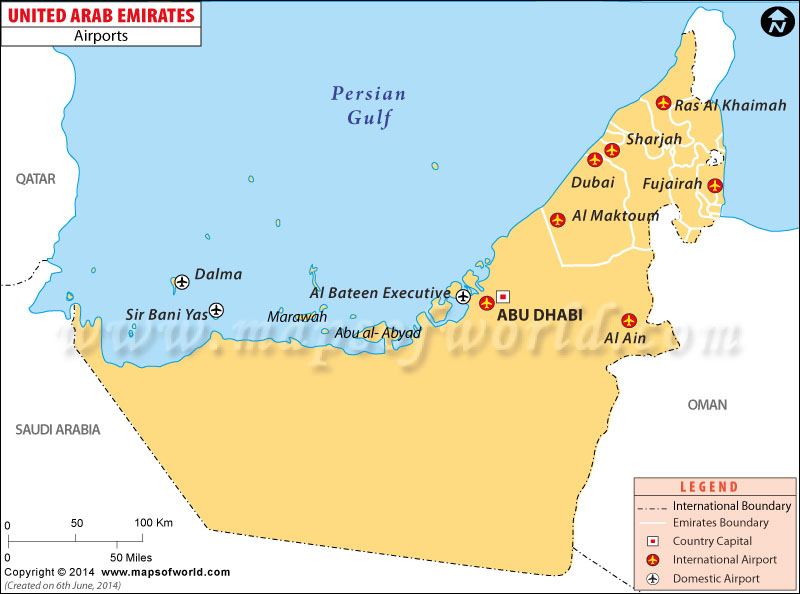 Airports in UAE UAE Airports Map