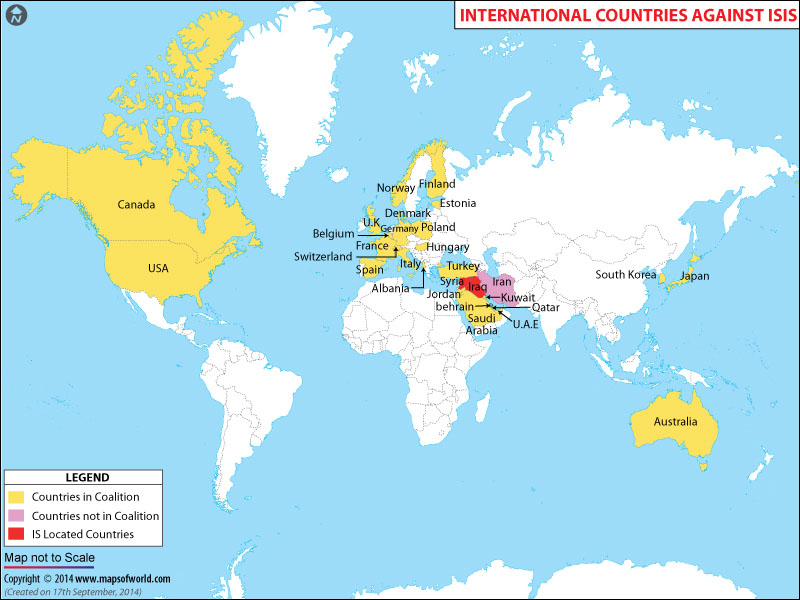 Anti-ISIS Coalition Countries