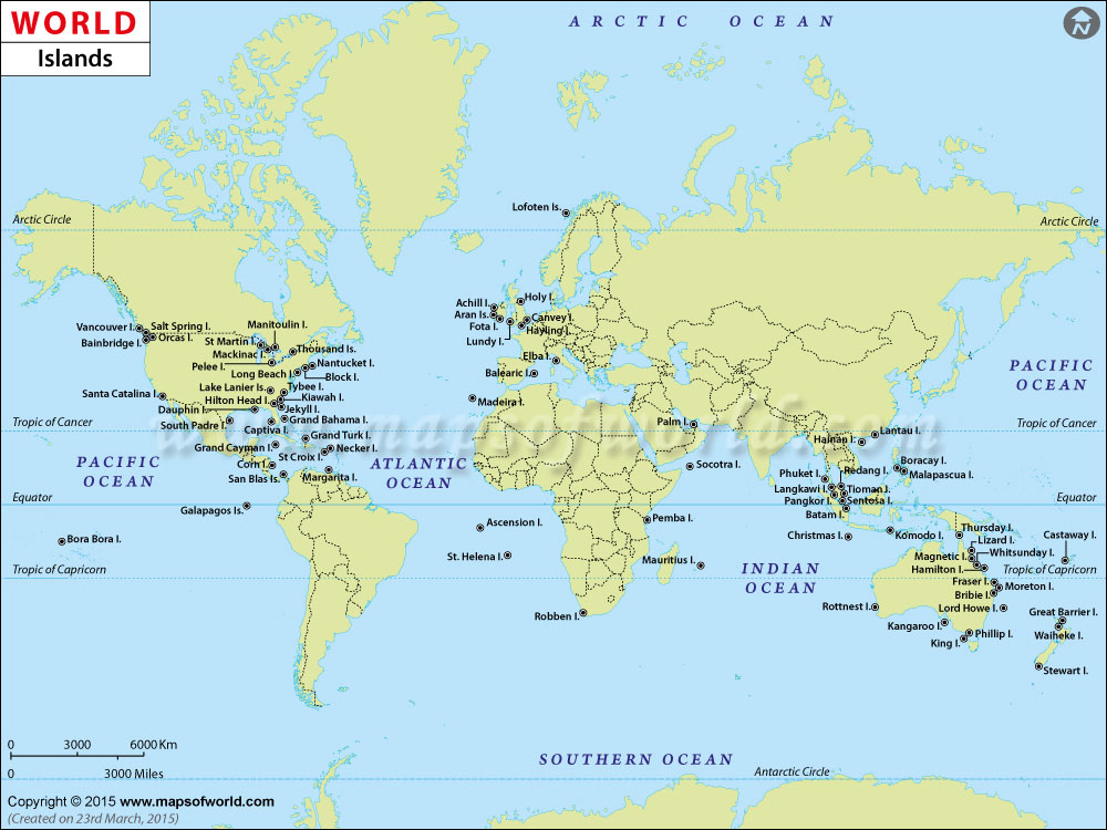 world islands map islands of the world