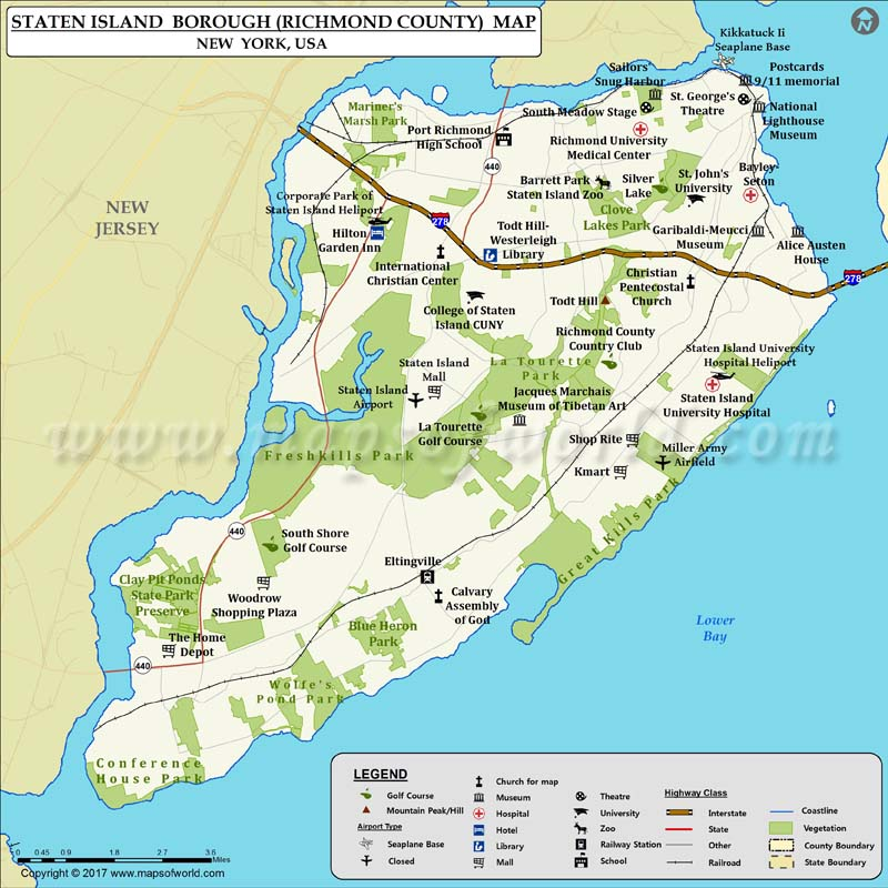 Map Of New York Islands.Staten Island Map Map Of Staten Island Borough In New York City Ny