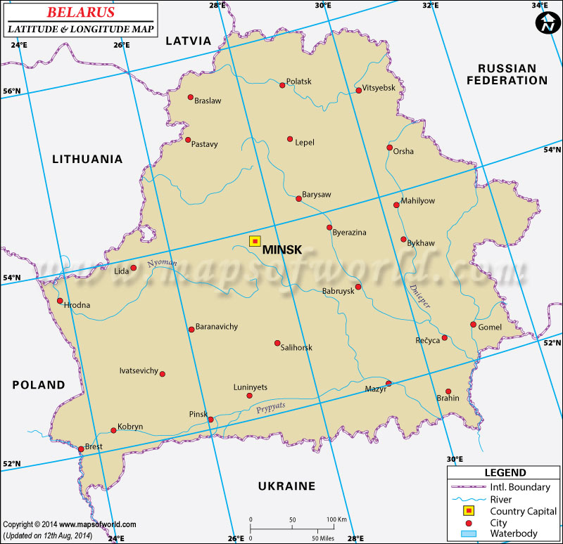 Belarus Latitude and Longitude Map