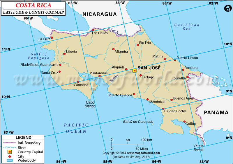Rica Latitude And Longitude Map - Argentina map latitude