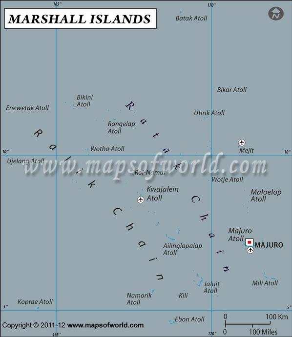 Island Latitude And Longitude Map - Marshall islands map