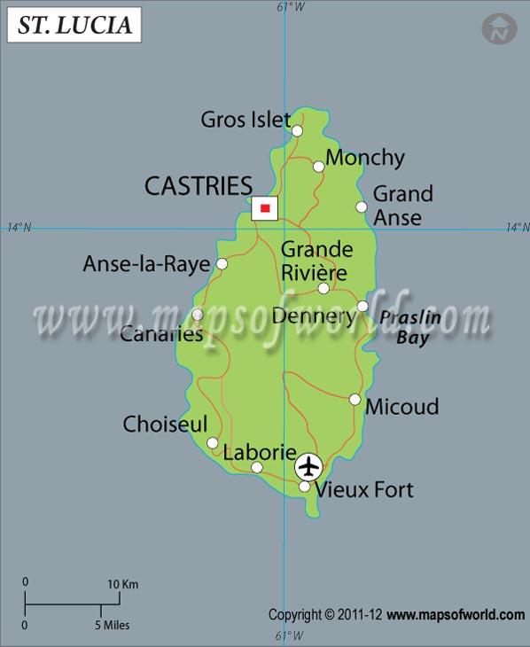 Lucia Latitude and Longitude Map