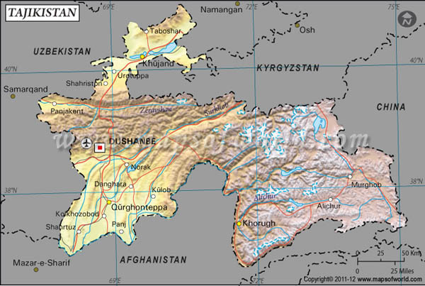 a geographical overview of tajikistan a land in central asia About the country tajikistan is a landlocked low-income country in central asia in 2011, tajikistan celebrated the geographical terrain with 93% of mountainous.