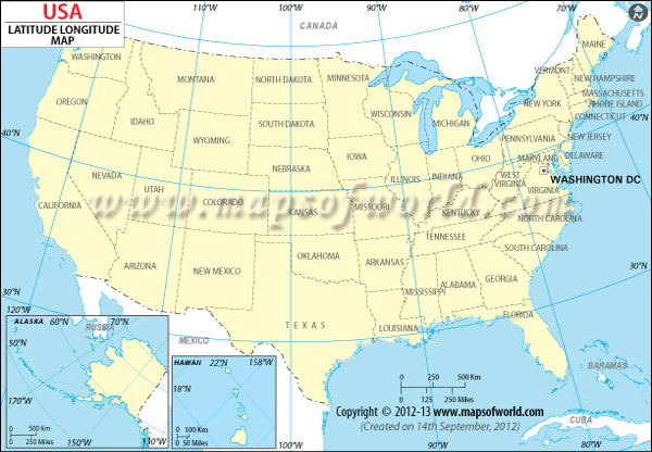 USA Latitude And Longitude Map Download Free - United states latitude and longitude