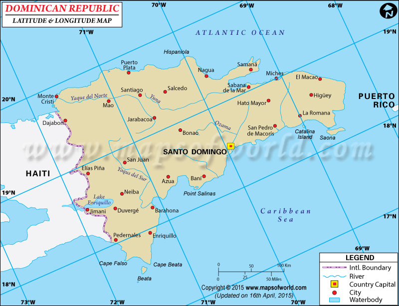 Dominican Republic Latitude And Longitude Map - Latitude map world