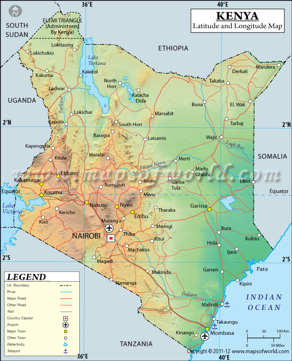 Kenya latitude and longitude map gumiabroncs Choice Image