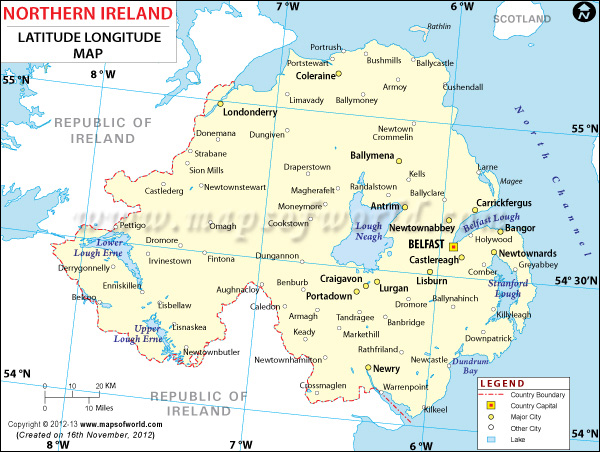 Ireland Latitude And Longitude Map - Usa map with longitude and latitude lines
