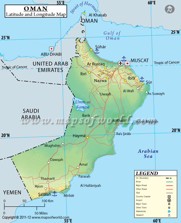 Oman latitude and longitude map oman lat longg gumiabroncs Gallery