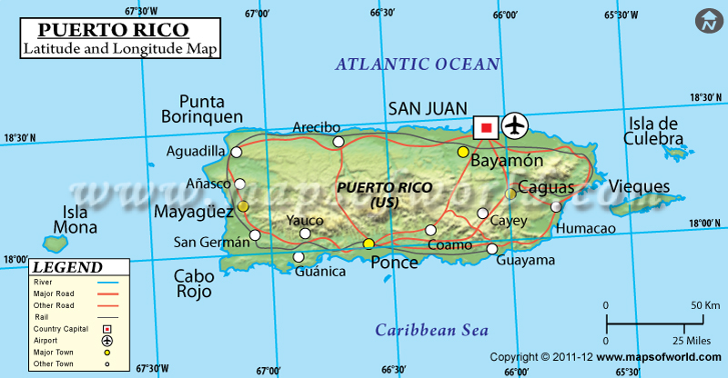 Rico Latitude And Longitude Map - Map us laatitude san juan