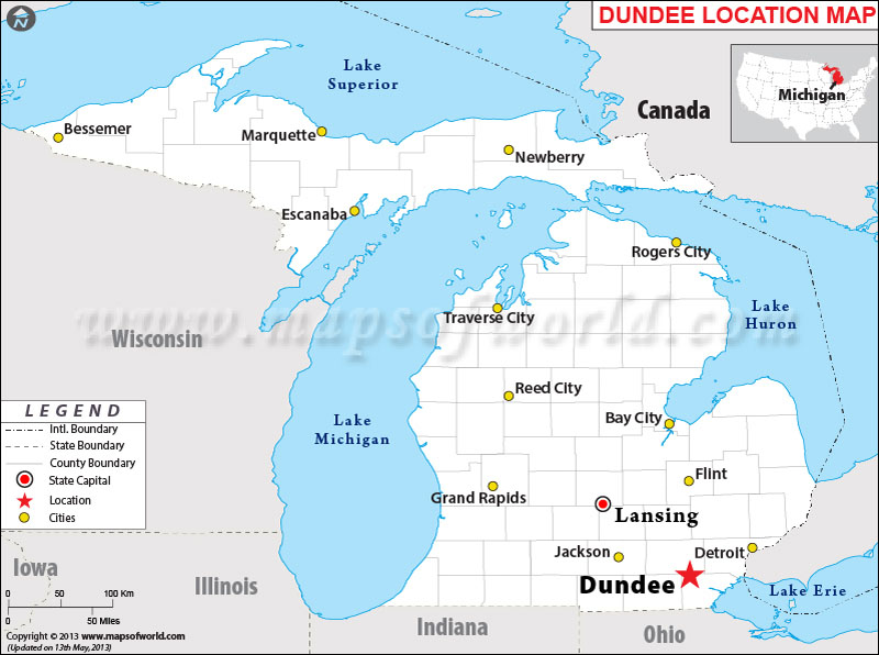 Where is Dundee Located in Michigan USA