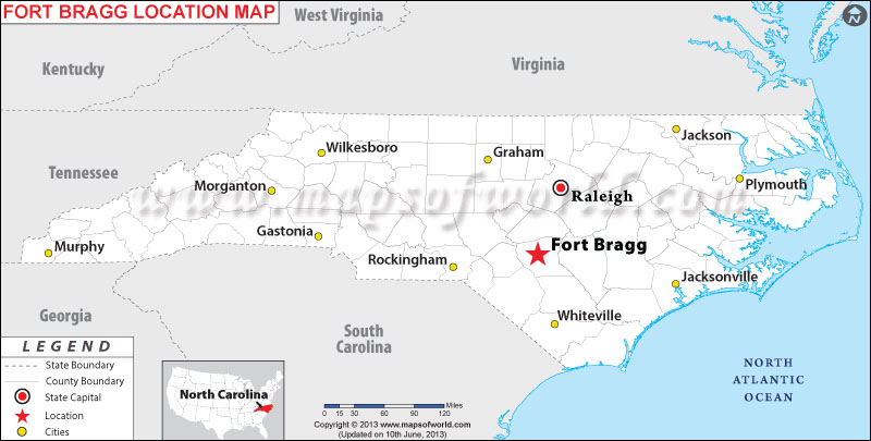 Where is Fort Bragg, North Carolina