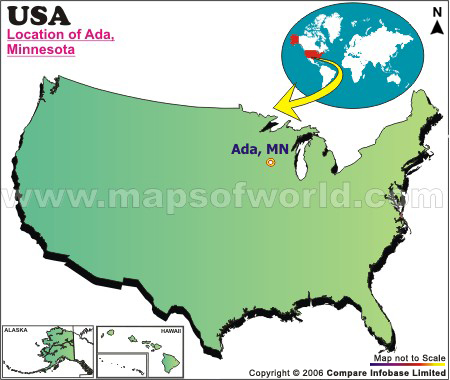 Where Is Ada Located In Minnesota Usa