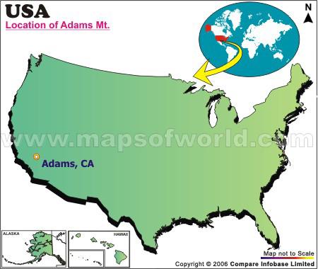 Where is Adams Mountain, California
